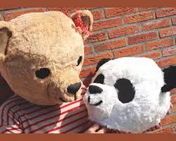 Panda Meme Mascara - couples costume adult panda teddy bear masks one of each