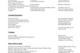 Cosmetologist Resume Template Dance Resume Examples Resume Example And Free Resume Maker