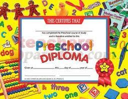 preschool diploma certificates preschool diploma 30pk by teachersparadise