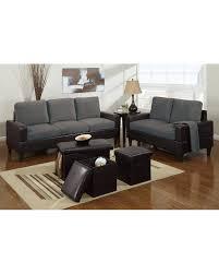 microfiber living room set bob kona 5 piece livingroom set in grey microfiber and chocolate