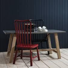 oak trestle dining table the gothenburg oak u0026 concrete dining table u2013 shropshire design
