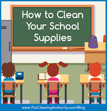 cleanschoolitems mainhead jpg the school year is almost here the year may start with fresh new school supplies but it won t be long until they get dirty check out these tips to keep