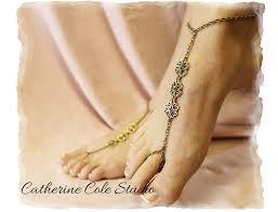 lavish love bronze filigree charm barefoot sandals 1 pr for beach