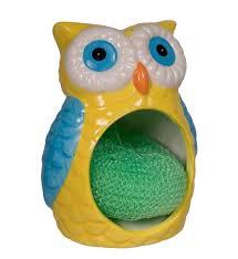 amazon com 1 x wise owl sponge holder