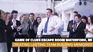 game of clues escape room team building video youtube
