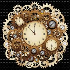steampunk wall clock gears
