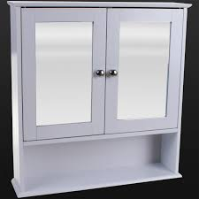 door bathroom wall cabinet white wooden shelf bathroom storage