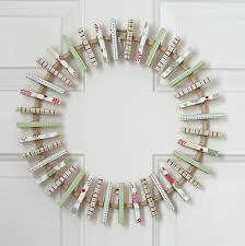 christmas card wreath organize and decorate everything
