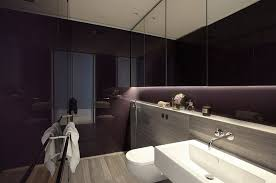 Modern Small Bathroom Design Ideas With Floating Sink Bathrooms Eclectic Purple Bathroom With Oval Bathtub And Purple