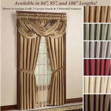 Burgundy Curtain Panels Elegant Curtains Touch Of Class