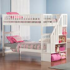 bunk beds twin over full bunk bed plans with stairs storage