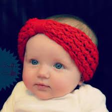 cool headbands baby turban knitted headband wool bow crochet knit kids hairband