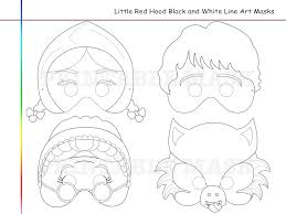 coloring pages red riding hood tale printable black
