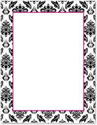 blank invitations black white damask invitations myexpression 28468