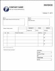 free graphic design invoice template