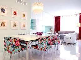 colorful floral dining chairs apartment therapy