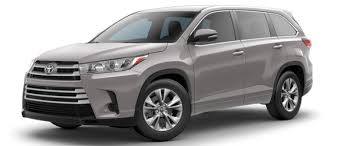 colors for toyota highlander 2017 toyota highlander exterior colors and trims