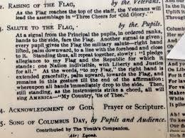 the forgotten history of the pledge of allegiance u0026 bellamy salute