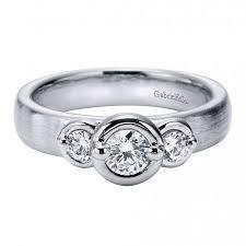 beveled engagement ring bezel set engagement rings
