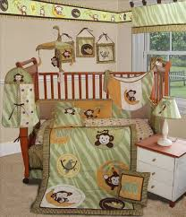 Monkey Crib Bedding Set by Sisi Bedding Sets Sisi Baby Bedding Jungle Monkey Green 15 Pcs