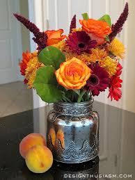 a medley of fall floral arrangements