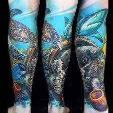50 coral reef tattoo designs for men aquatic ink mastery