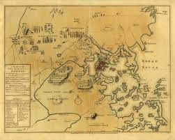 Map Of Boston Harbor by Boston 1776 Boston Harbor Revolutionary War Map Battlemaps Us