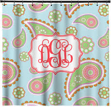 Paisley Shower Curtains Blue Paisley Shower Curtain Personalized Potty Training Concepts