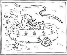 summer vacation coloring pages little people coloring pages sweet summertime themes for kids to
