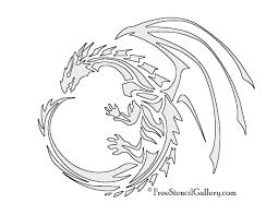 dragon stencil free stencil gallery