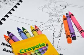 crayons and coloring fancy coloring book crayons coloring page