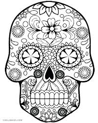 printable coloring pages sugar skulls sugar skull printable coloring pages sugar skull printable coloring