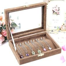 jewelry necklace case images Necklace storage box plastic slots compartment adjustable jewelry jpg