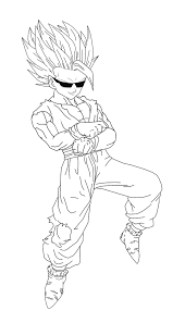 10 images of dragon ball z ultimate gohan coloring pages dragon