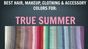 summer color palette best hair makeup colors cool skin