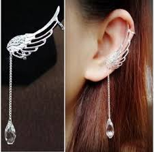 ear cuffs online boho ear cuffs silver plated angel wings ear bone