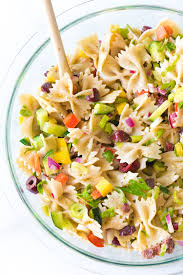 vegan mediterranean pasta salad eating by elaine