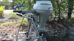 2008 honda 2008 20hp tiller outboard motor youtube