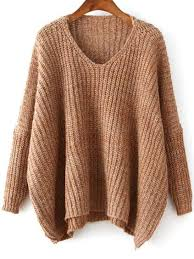 brown sweater v neck dolman brown sweater emmacloth fast fashion