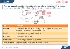 learnhive icse grade 9 physics measurement of length volume