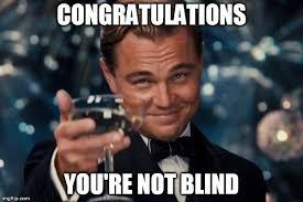 Blind Meme - leonardo dicaprio cheers meme imgflip