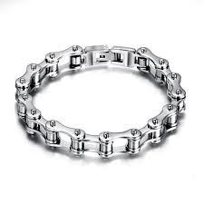 diamond stainless steel bracelet images Fashion stainless steel bracelet men biker bicycle motorcycle jpg