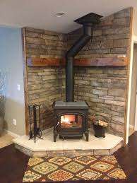 Living Rooms With Wood Burning Stoves Corner Wood Stove Houzz