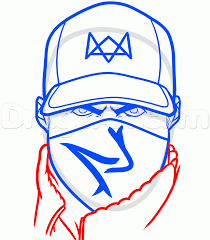 how to draw aiden pearce from watch dogs step by step video game