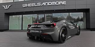 ferrari 488 custom ferrari 488 tuning wheels exhaust power upgrades wheelsandmore
