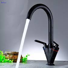 online get cheap traditional brass taps aliexpress com alibaba dofaso copper black and chrome finish kitchen sink faucet deck mount black kitchen faucet sprayer hot