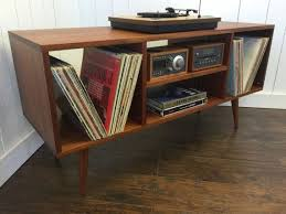 mid century console cabinet mid century modern stereo turntable console record player cabinet