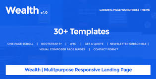 wealth u2013 multi purpose landing page wordpress theme by oceanthemes