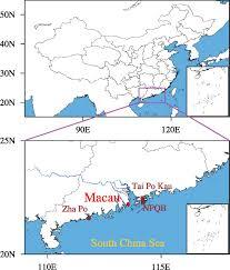 Macau China Map by Adv Atmos Sci
