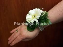 wrist corsage bracelet 1b wrist corsage for prom with fresh germini flower on a diamante